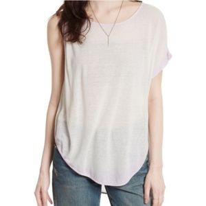 NWT Free People Pluto One Shoulder Tee Size S